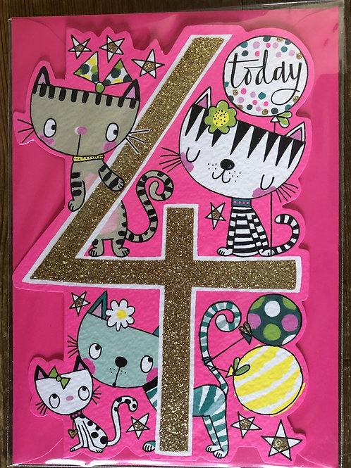 4th Birthday Card