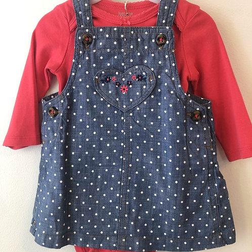 Carter's Pinafore Dress 3-6 months