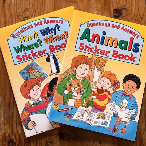 Questions and Answers Sticker Books