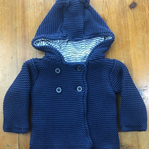 M&S Hooded Cardigan 0-3 months