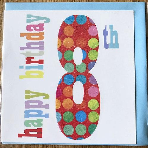 8th Birthday Card