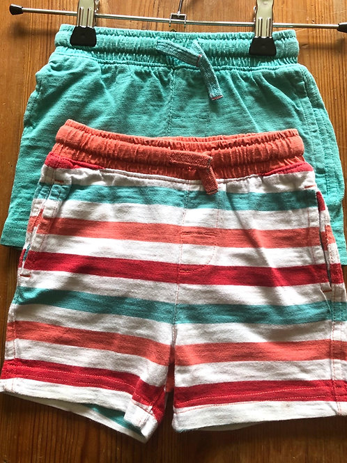 2 x Mothercare shorts 9-12 months