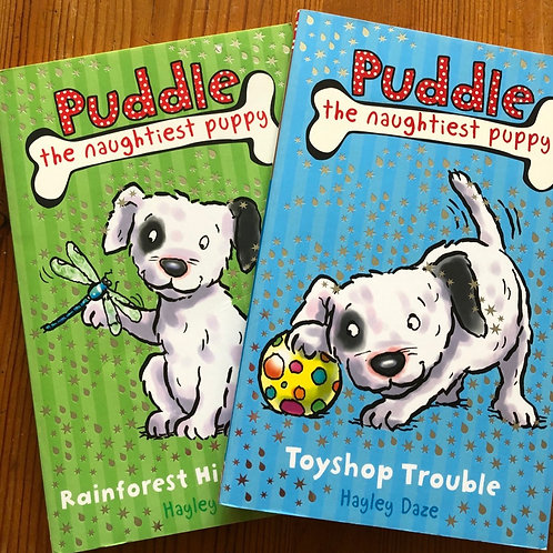 2 x Puddle the naughtiest puppy - 5+