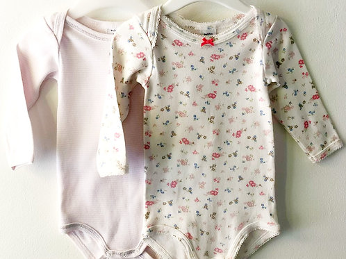 Two Petit Bateau Bodies 3-6 months