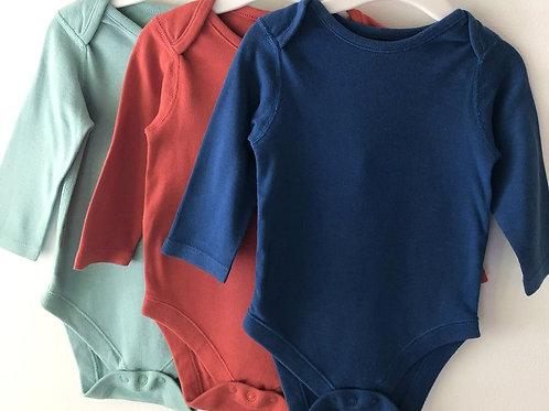Three M&S bodysuits 6-9 months