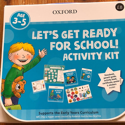 Let's get ready for school! activity kit - aged 3-5