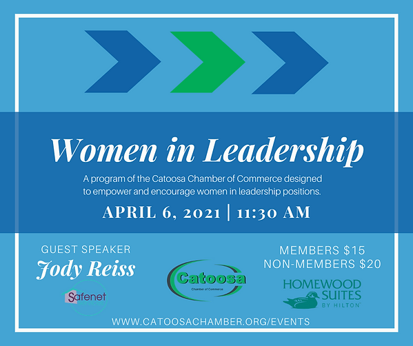 Women in Leadership Graphic - April Meet