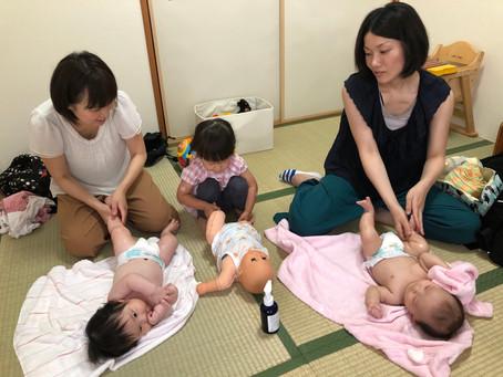 高槻 摂津富田 ベビーマッサージ教室 開催しました。