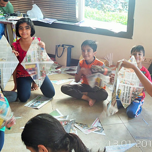 Godrej Woodsman Estate - Kite Making Workshop