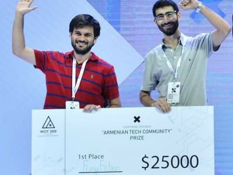 ForgeFiction co- créé par les #UFARAlumni remporte les Lightning Rounds du #WCIT2019