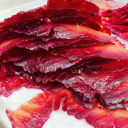 Beet and Horseradish Salmon