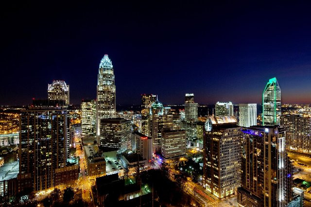 Charlotte by night