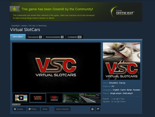 Virtual SlotCars is Green lit!