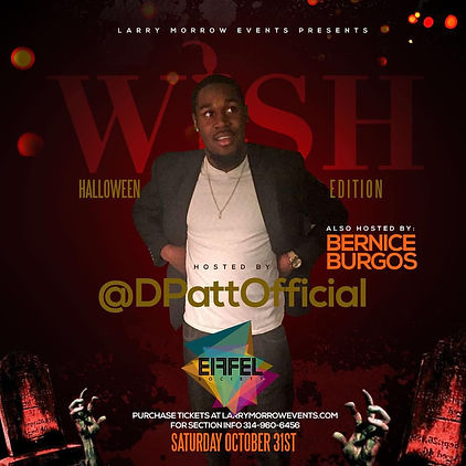 Saturday October 31st Holloween Night DPatt turned up Club Eiffel in New  Orleans along with Bernice Burgos