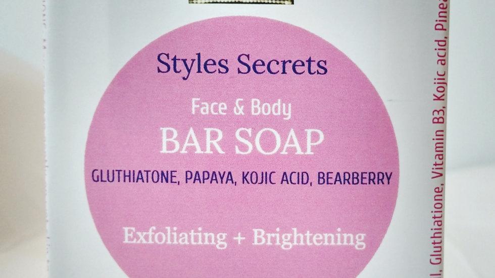 STYLES SECRETS BRIGHTENING BAR SOAP.
