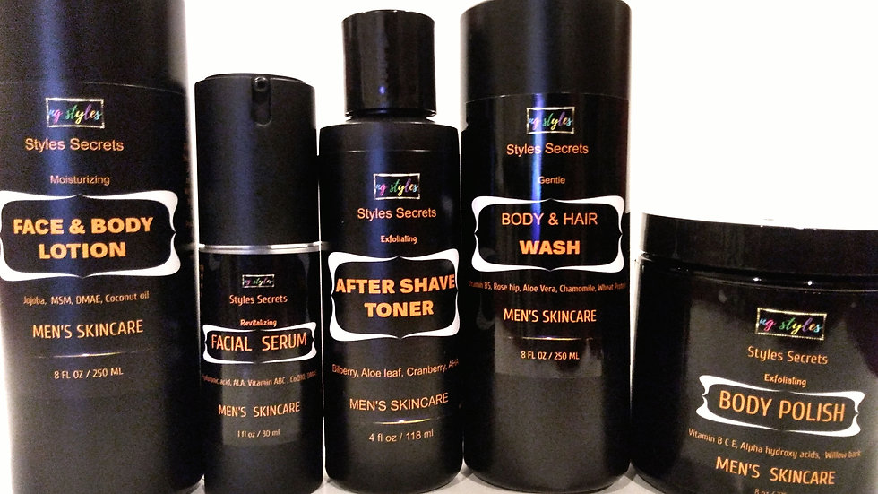 STYLES SECRETS TOTAL MEN SKINCARE SET
