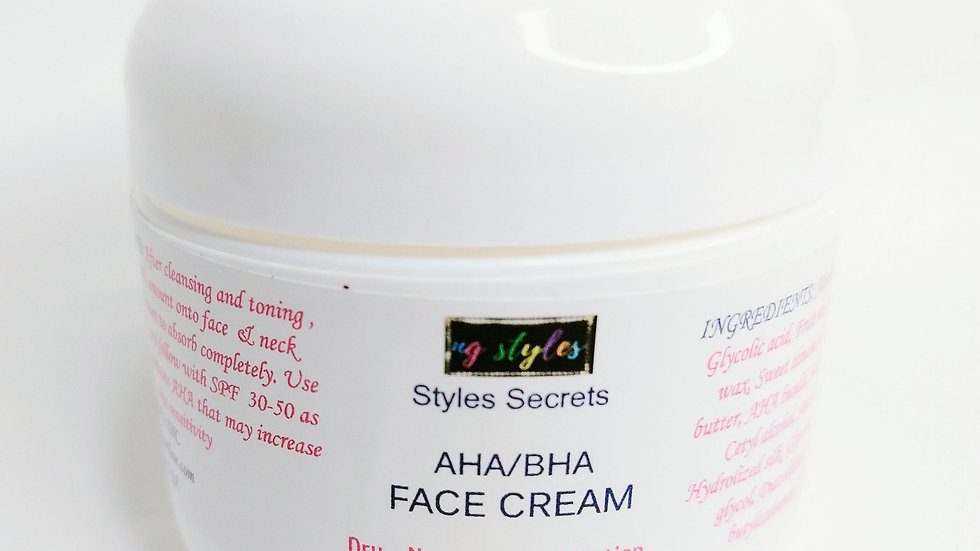 STYLES SECRETS EXFOLIATING AHA/BHA FACE CREAM