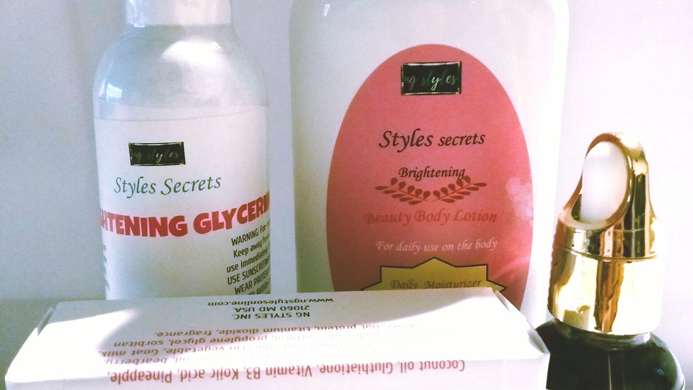 STYLES SECRETS TOTAL BODY CARE SYSTEM SET.