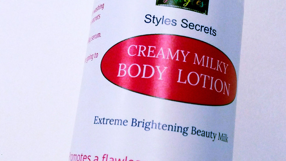STYLES SECRETS CREAMY MILKY BRIGHTENING BODY LOTION