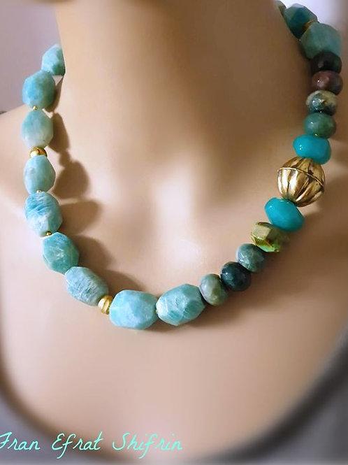 Cuncky Amazonite Mint Green gemstone Choker