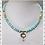 Thumbnail: Light Blue Opal Gold Amber Topaz Necklace