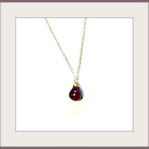 Genuine Ruby & necklace.