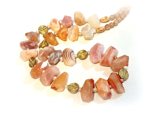 Long Chuncky Agate necklace
