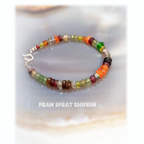 Fashionable Gemstone Colorful Bracelet