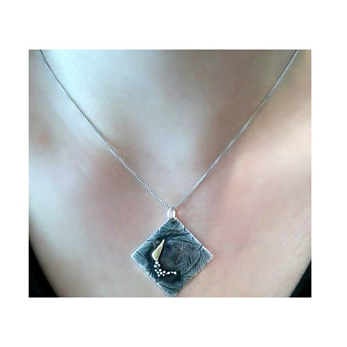 Silver Gold One Of A Kind Pendant Chain Necklace