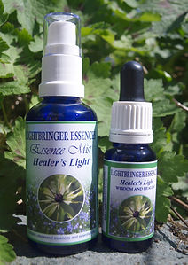 Image of Healer's Light Combination Essence Mist and Drops for preparing your space and your energy for sacred work.