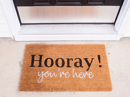hooray-you're-here-welcome-mat-vacation-rental-patriot-family-homes