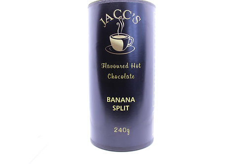 Banana Split flavoured hot chocolate