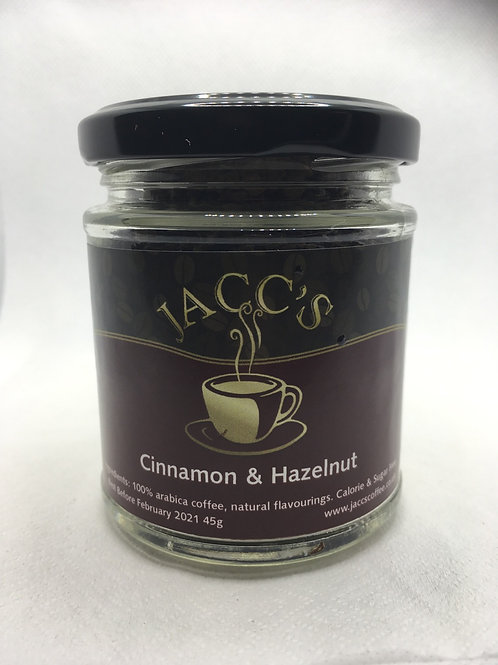 Cinnamon & Hazelnut instant coffee 45g jar