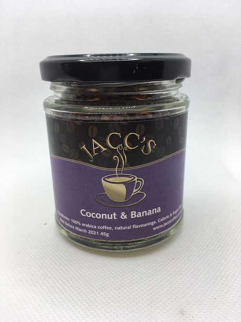 Coconut & Banana flavoured instant coffee 45g
