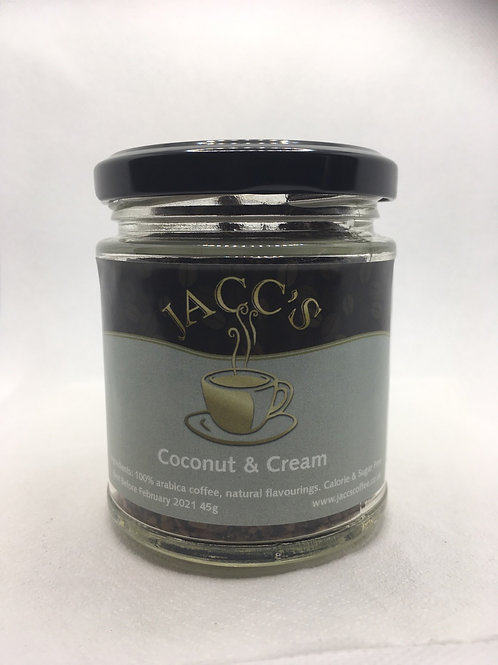Coconut & Cream instant coffee 45g jar