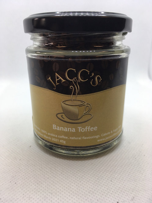 Banana Toffee flavoured instant coffee