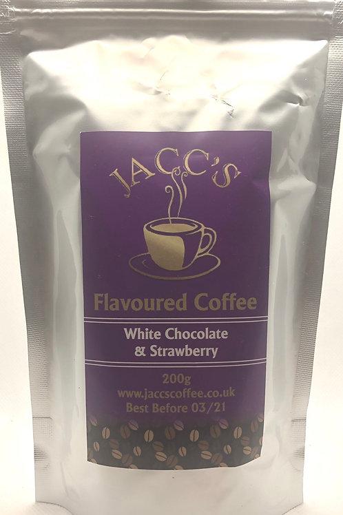 White Chocolate & Strawberries Flavoured Coffee