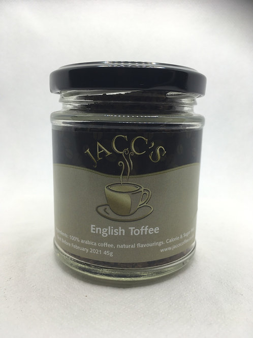 English Toffee Instant Coffee 45g Jar