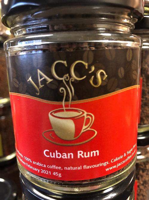 Cuban Style Rum instant coffee 45g jar