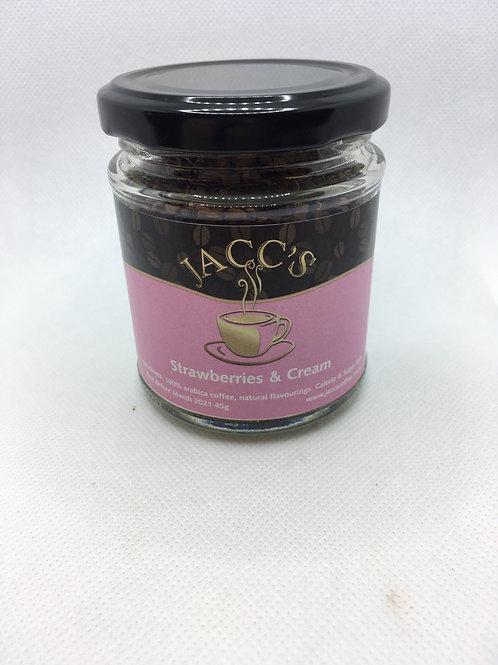 Strawberries & Cream flavoured instant coffee 45g