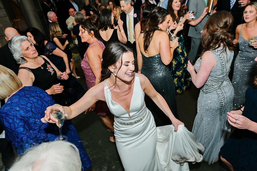 Bride dancing wedding