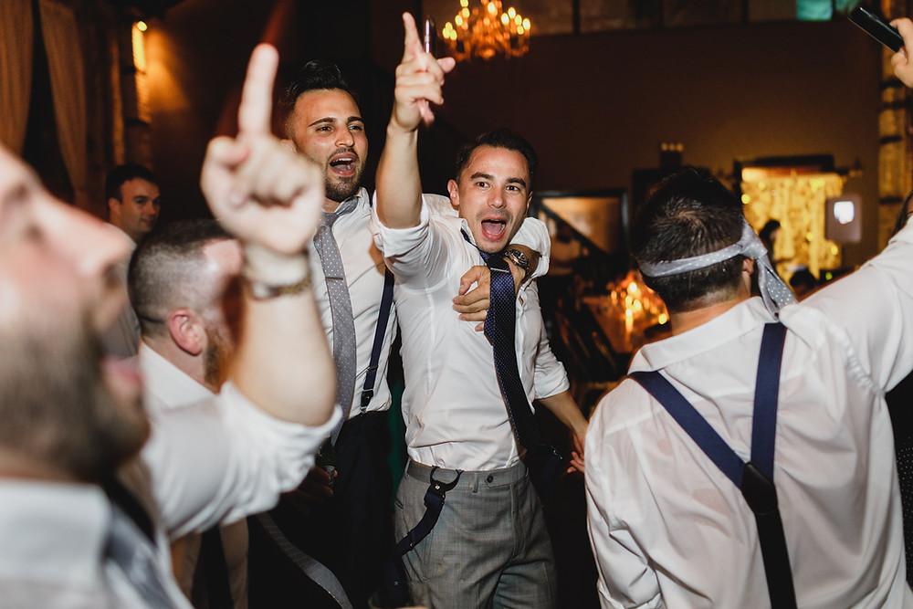 Brooklyn Wedding DJ, DJ Ben Boylan groom jump