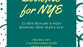 Book DJ Ben Boylan for New Year's Eve!