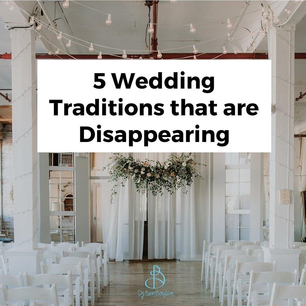 disappearing wedding traditions