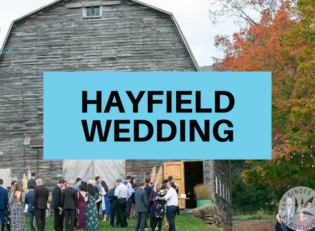 Hayfield Wedding in the Catskills, for Nicole and Vince