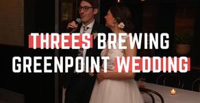 Threes Brewing Greenpoint Wedding, Brooklyn NY