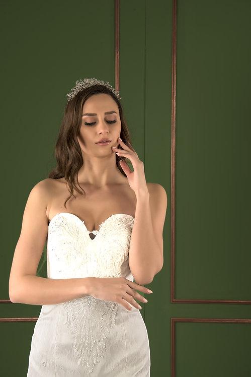21524 Hand Beaded Wedding dress