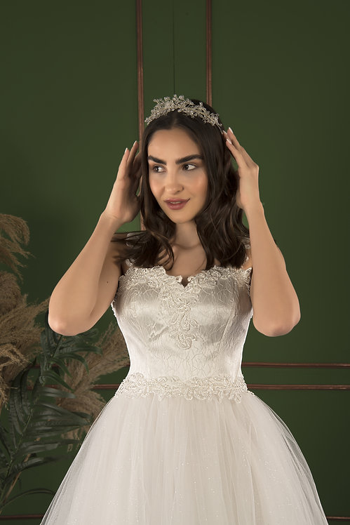21503 Hand Beaded Wedding dress