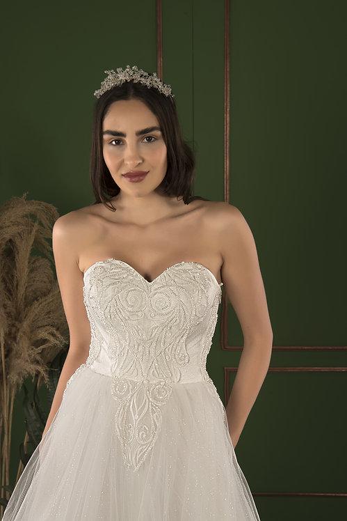 21506 Hand Beaded Wedding dress
