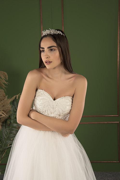 21515 Hand Beaded Wedding dress